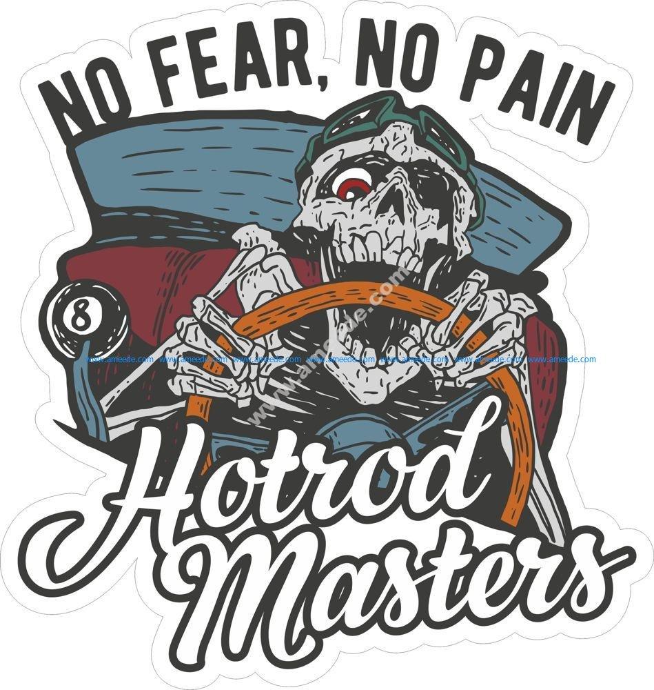 Hotrod Master Sticker