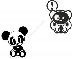 JDM Team Panda Sticker Vector