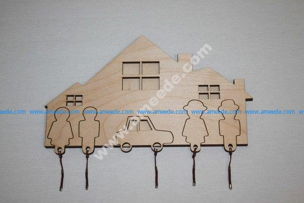 Key Holder Laser Cut Download Free Vector