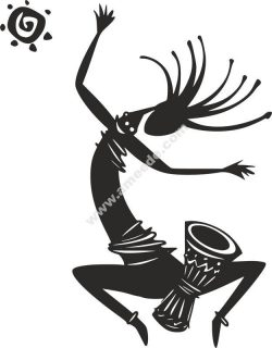 Kokopelli Figure Dancing Vector