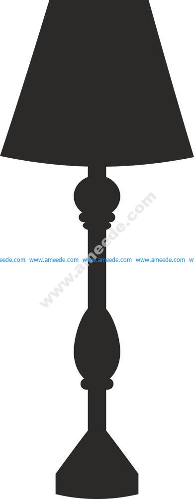 Lamp Silhouette Vector