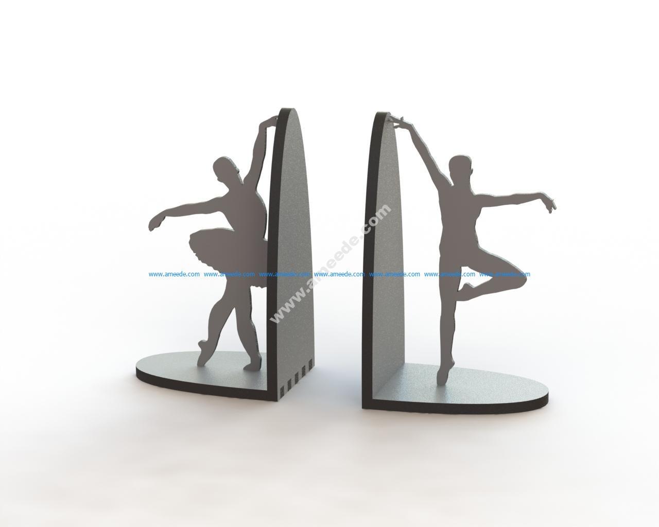 Laser Cut Ballerina Pair Book Supports