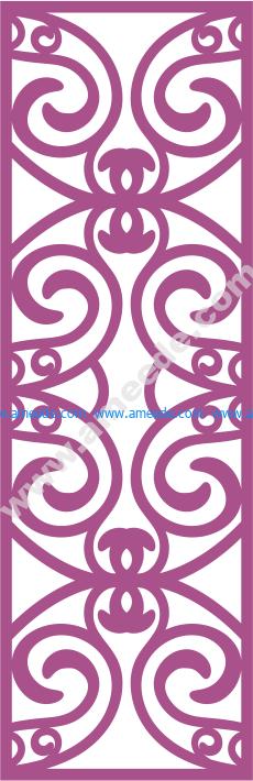 Laser Cut Vector Panel Seamless 164