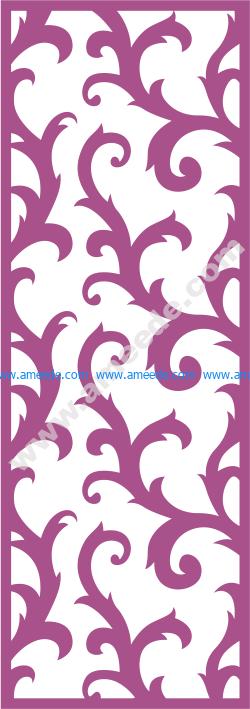 Laser Cut Vector Panel Seamless 172