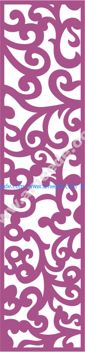 Laser Cut Vector Panel Seamless 175