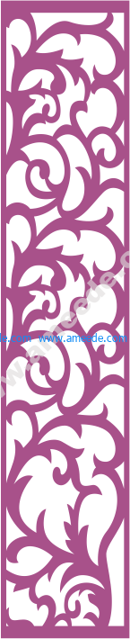 Laser Cut Vector Panel Seamless 178