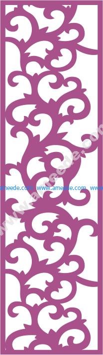 Laser Cut Vector Panel Seamless 181