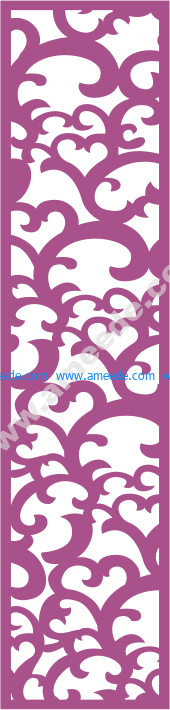 Laser Cut Vector Panel Seamless 182