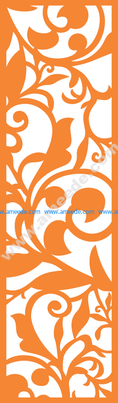 Laser Cut Vector Panel Seamless 189