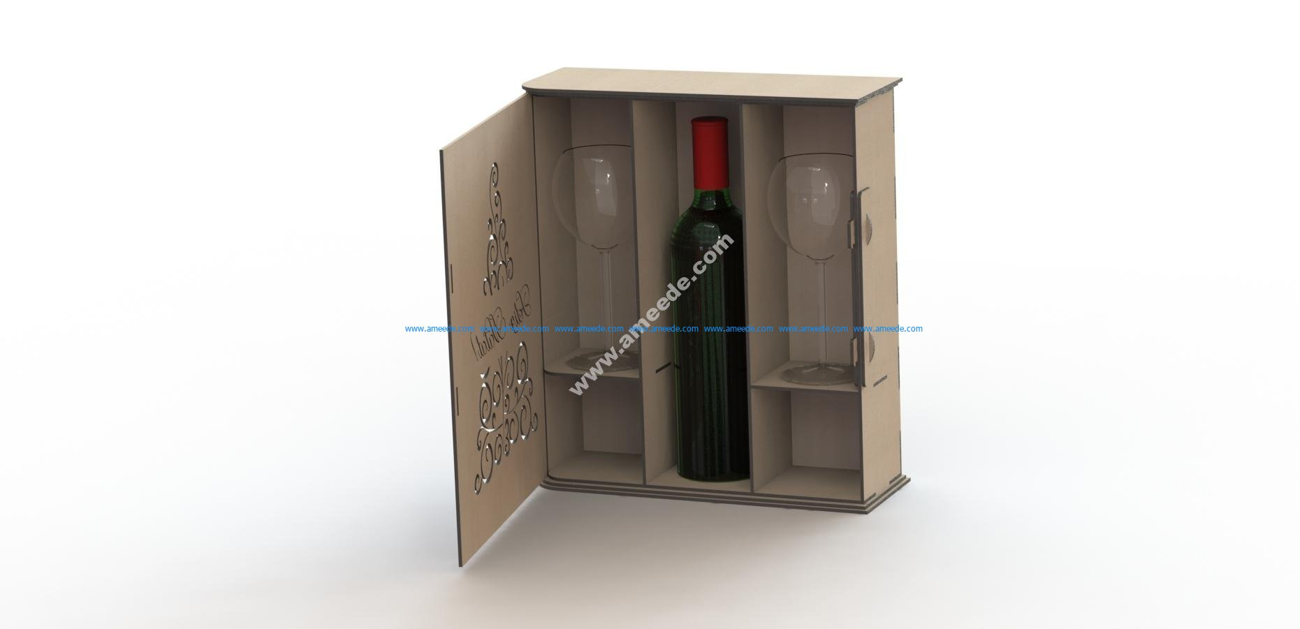 Laser Cut Wine Box