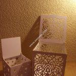 Laser Cut Wood Box with Flower Motif