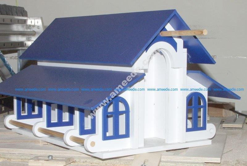 Laser Cut casa-aves