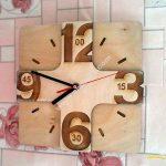 Laser Cutting Wall Clock