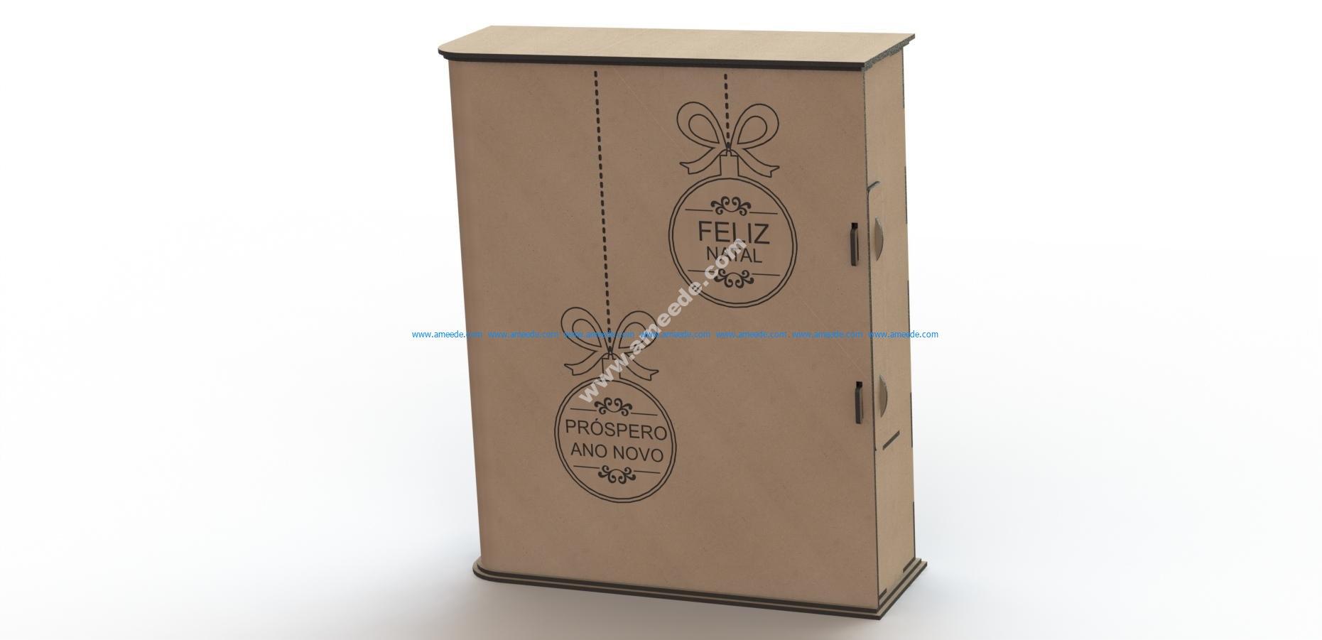 Laser cut box pattern
