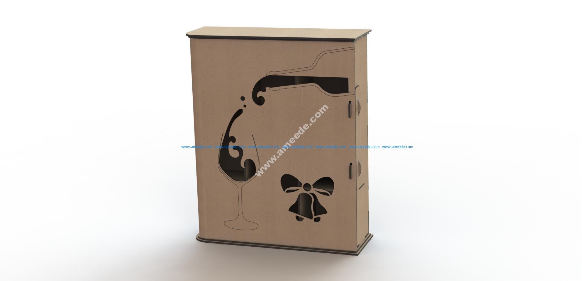 Laser cut wine box template