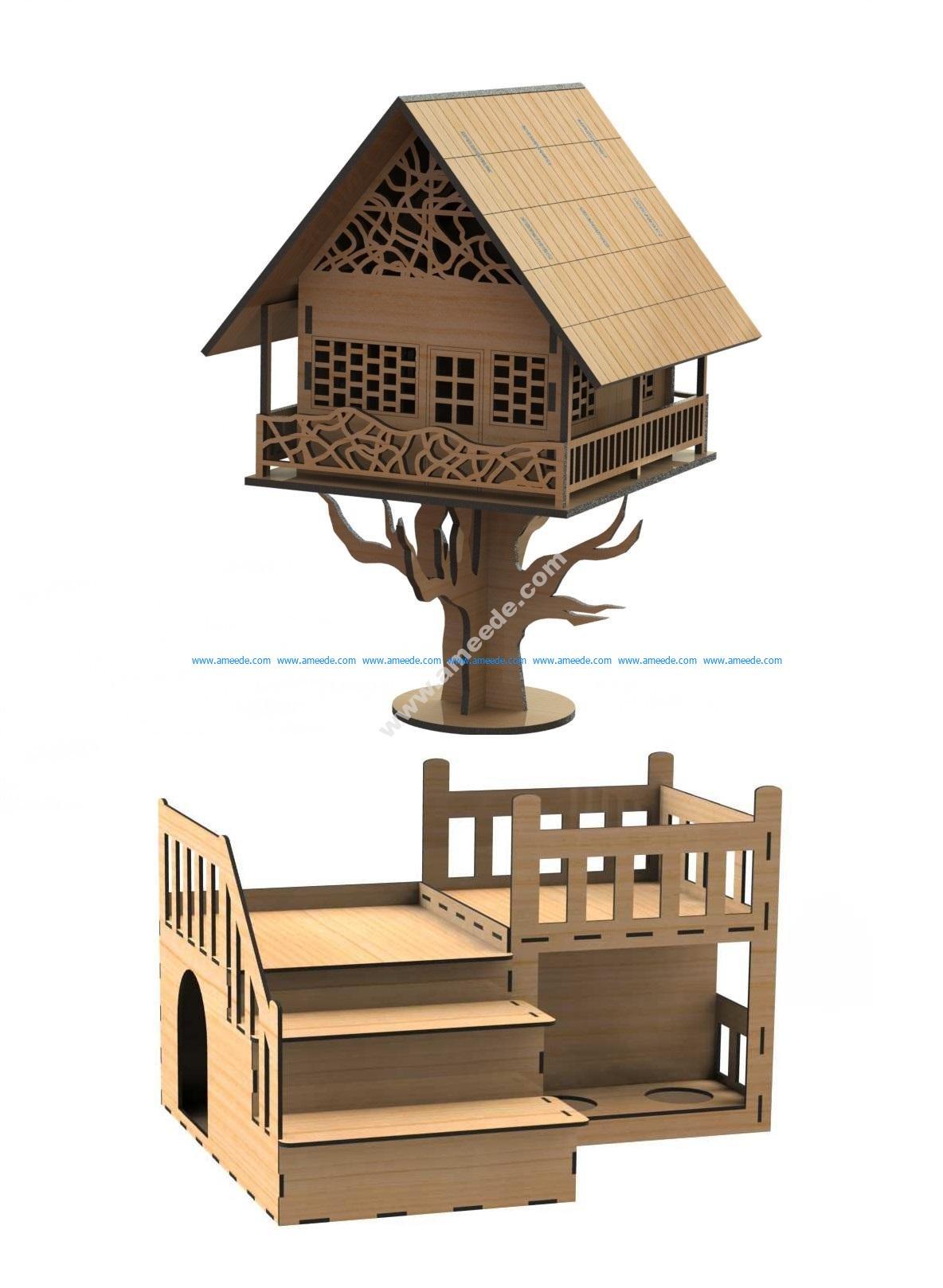 Lasercut Fantasy House