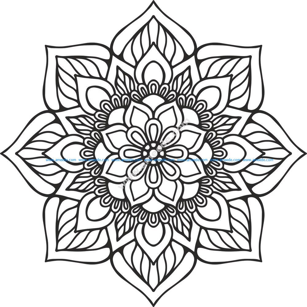 Mandala Indian Vector