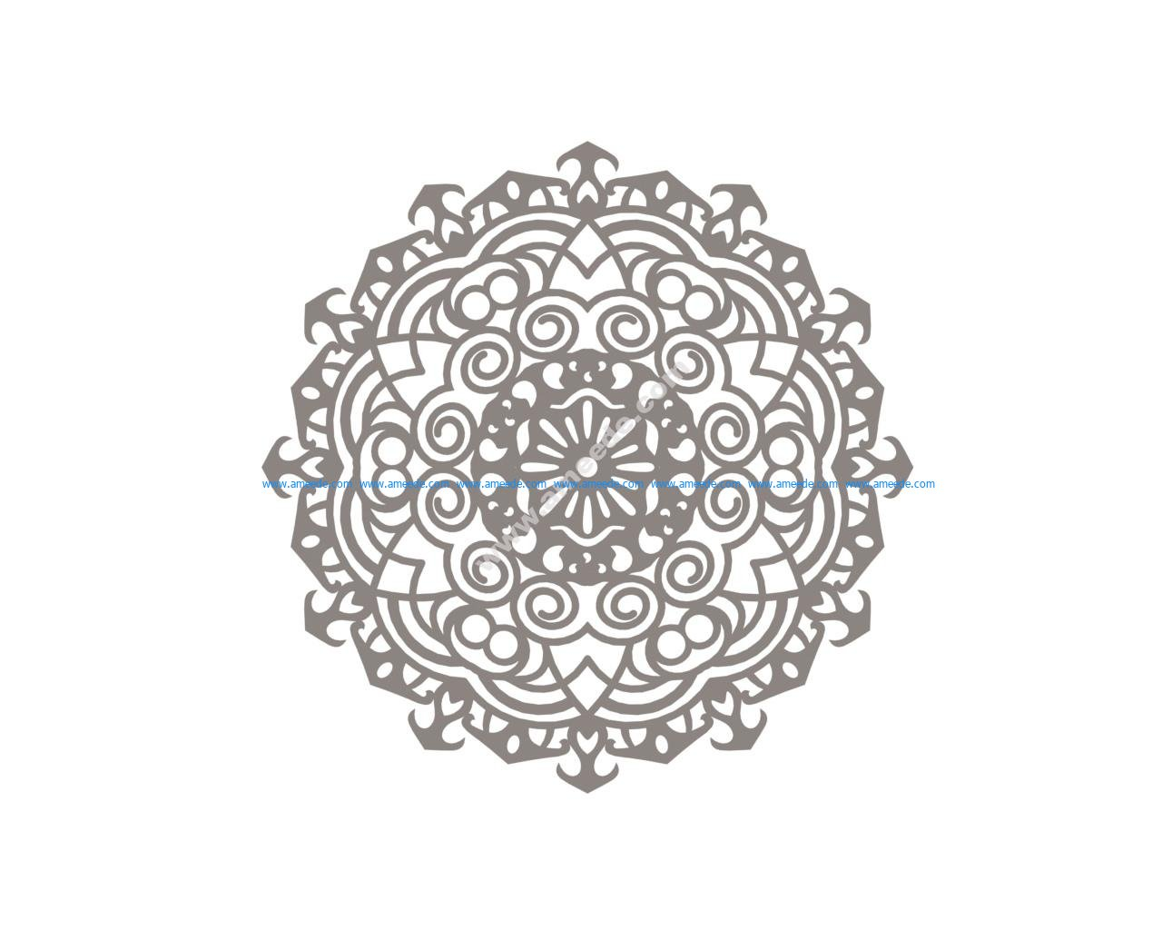 Mandala design drawing vector