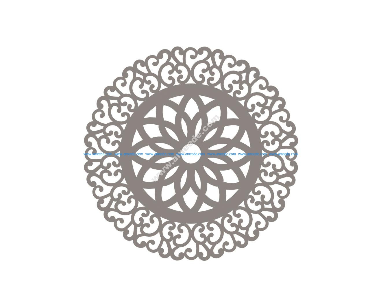 Mandala vector of circle art
