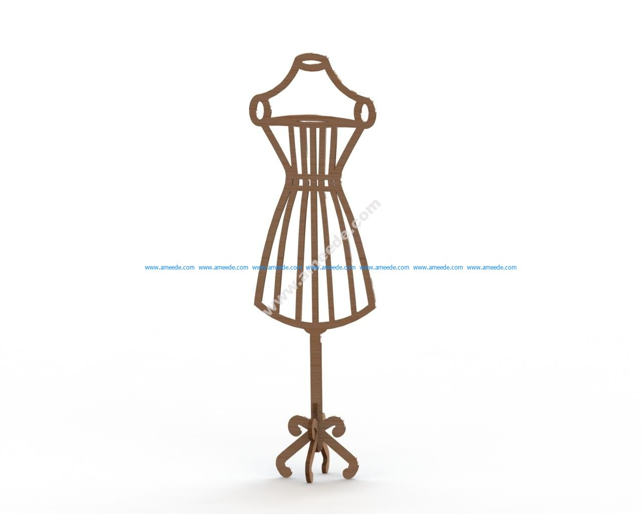 Mannequin MDF Dress Form Laser Cut 6mm