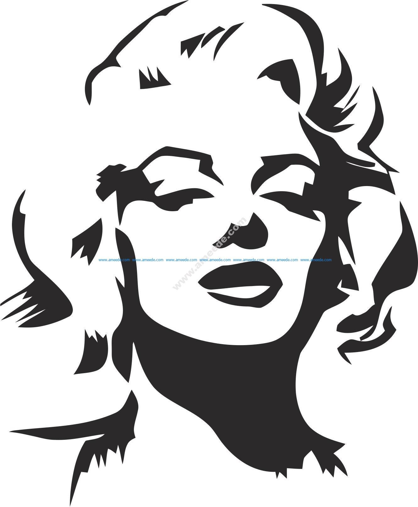 Marilyn Monroe Stencil Vector