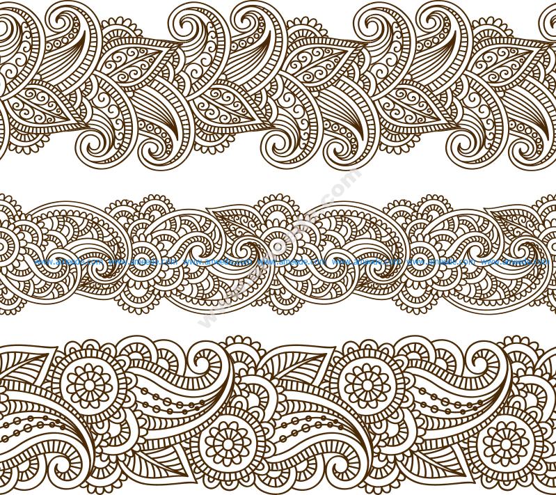 Mehndi vector pattern