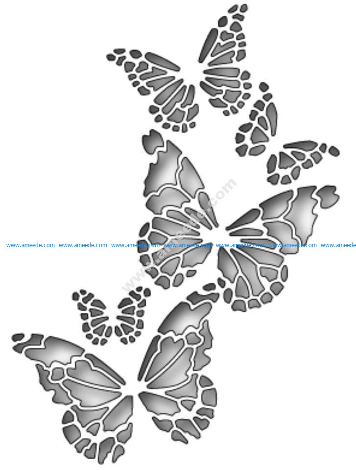 Memory Box Butterfly Vector Art