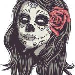 Mexican Skull Woman Vector Art