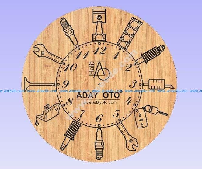 Motor parçalı Saat
