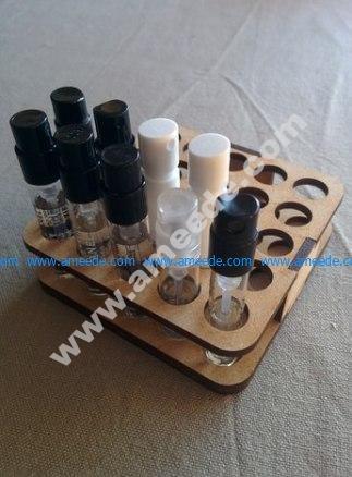 Perfume Sample Holder 2d model for CNC