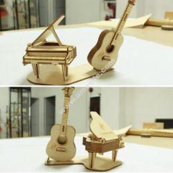 Piano Guitar Laser Cut Vector Art