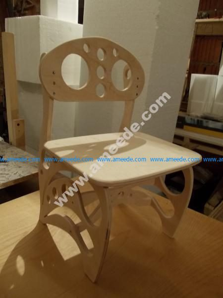 Plywood Children Chair 3D Puzzle