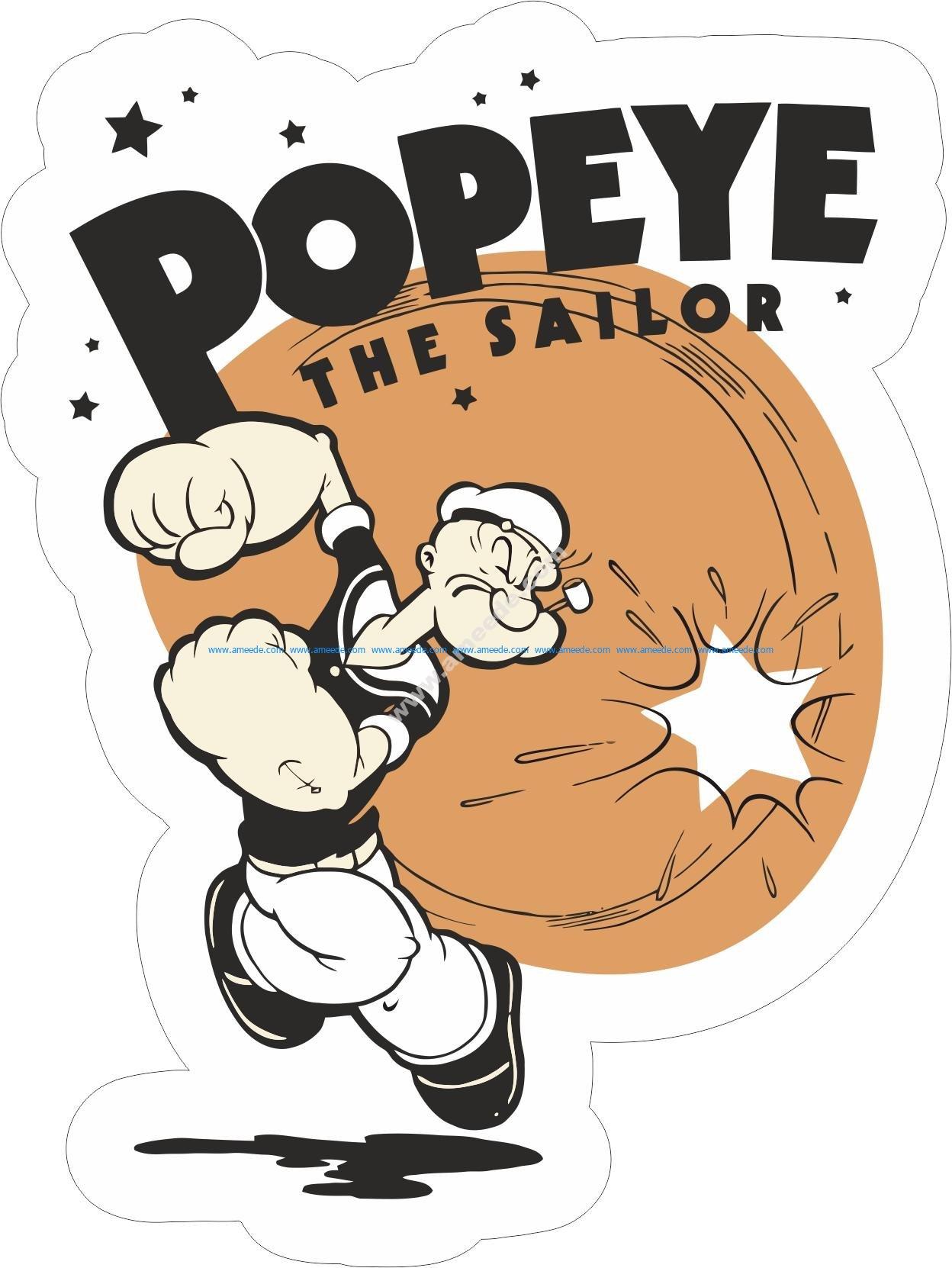 Popeye the sailor sticker
