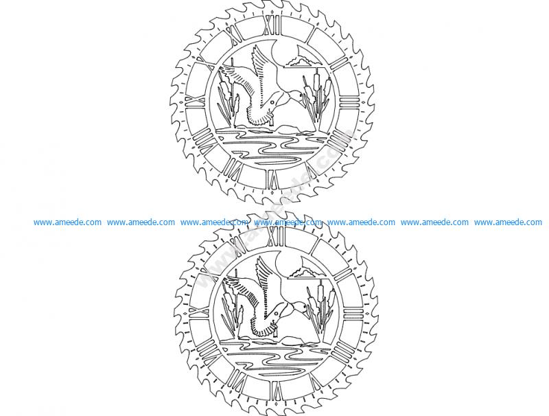 Sawblade Clock 8B