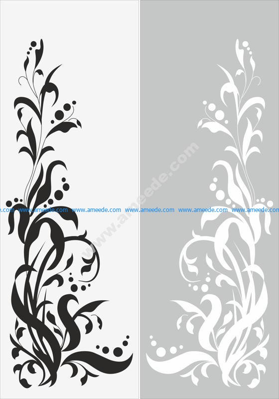 Seamless Floral Pattern Sandblast Pattern