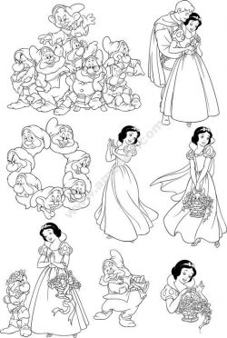 Seven Dwarfs Snow White Wall Decal