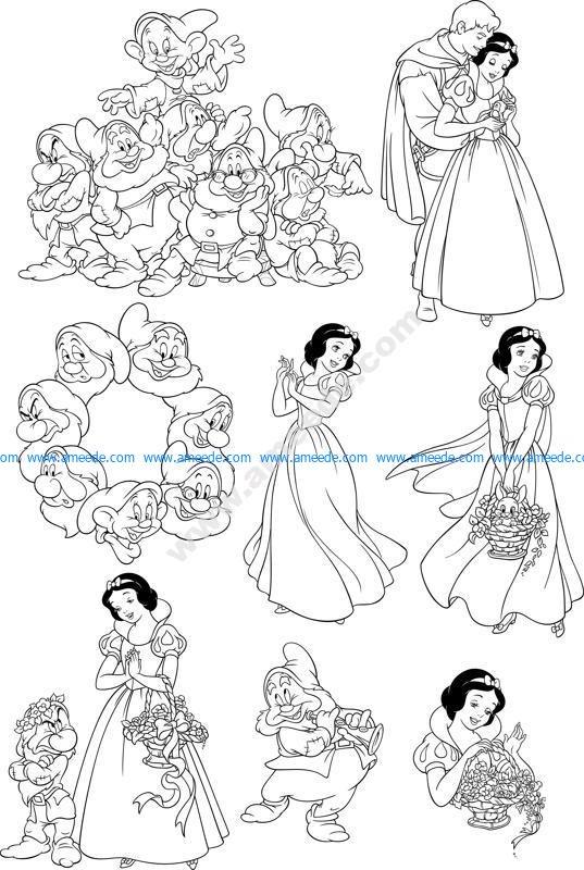Seven Dwarfs Snow White Wall Decal