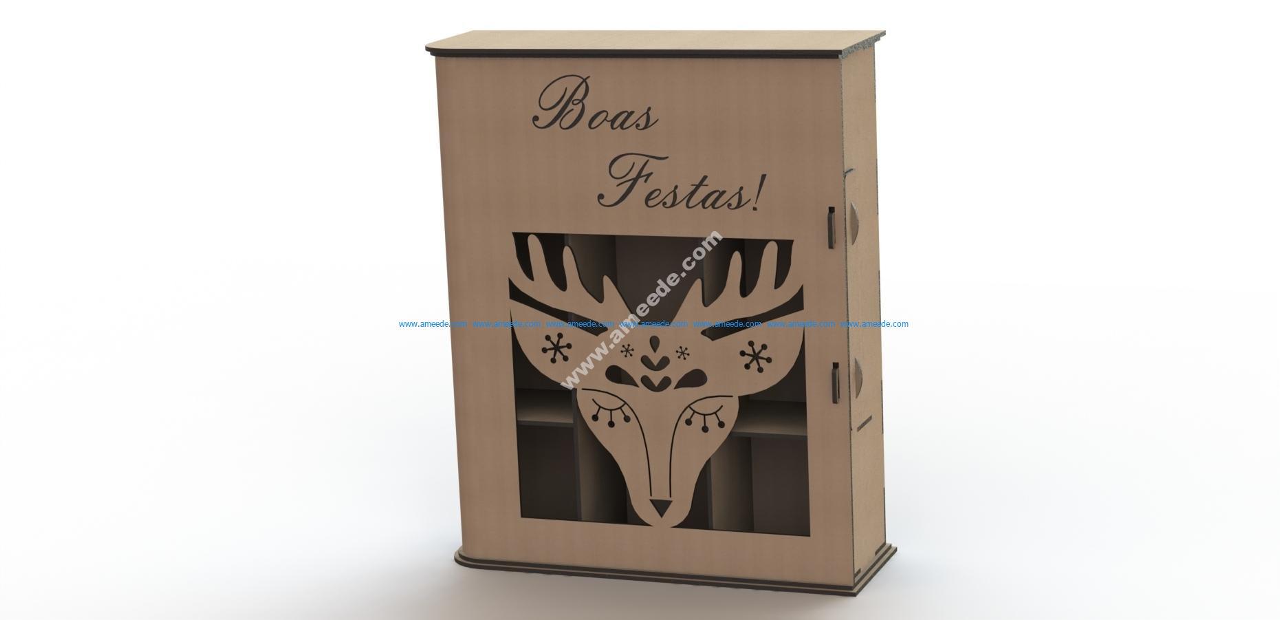 Simple Laser Cut Wine Box