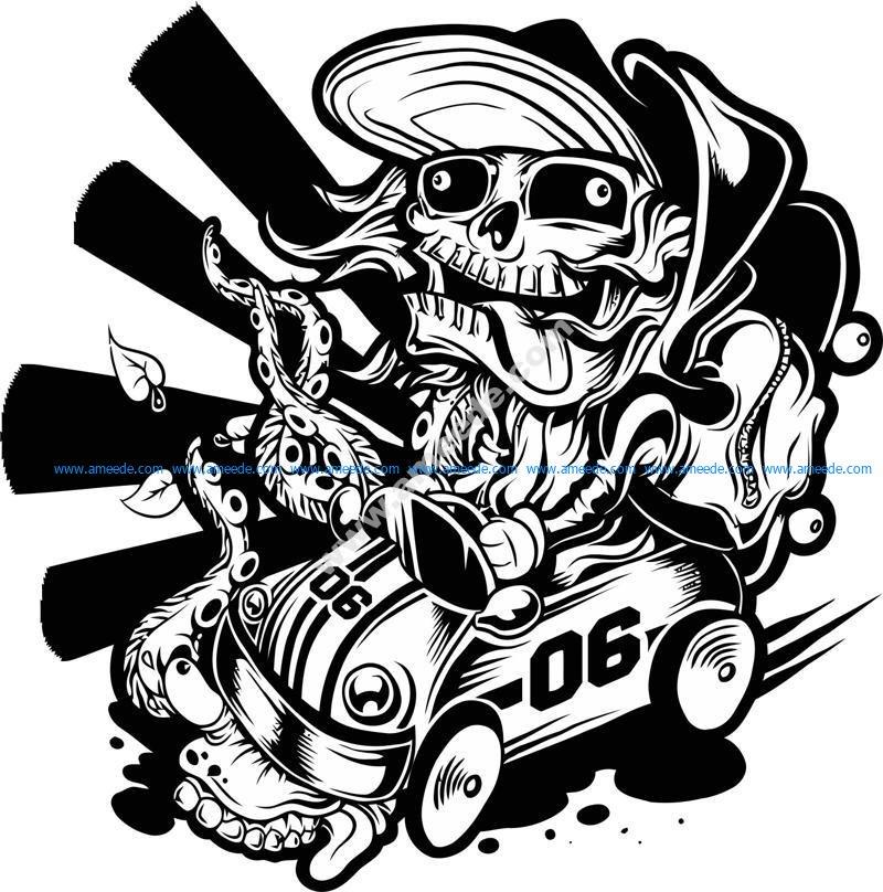 Skate Racer By Mrchugchug vector
