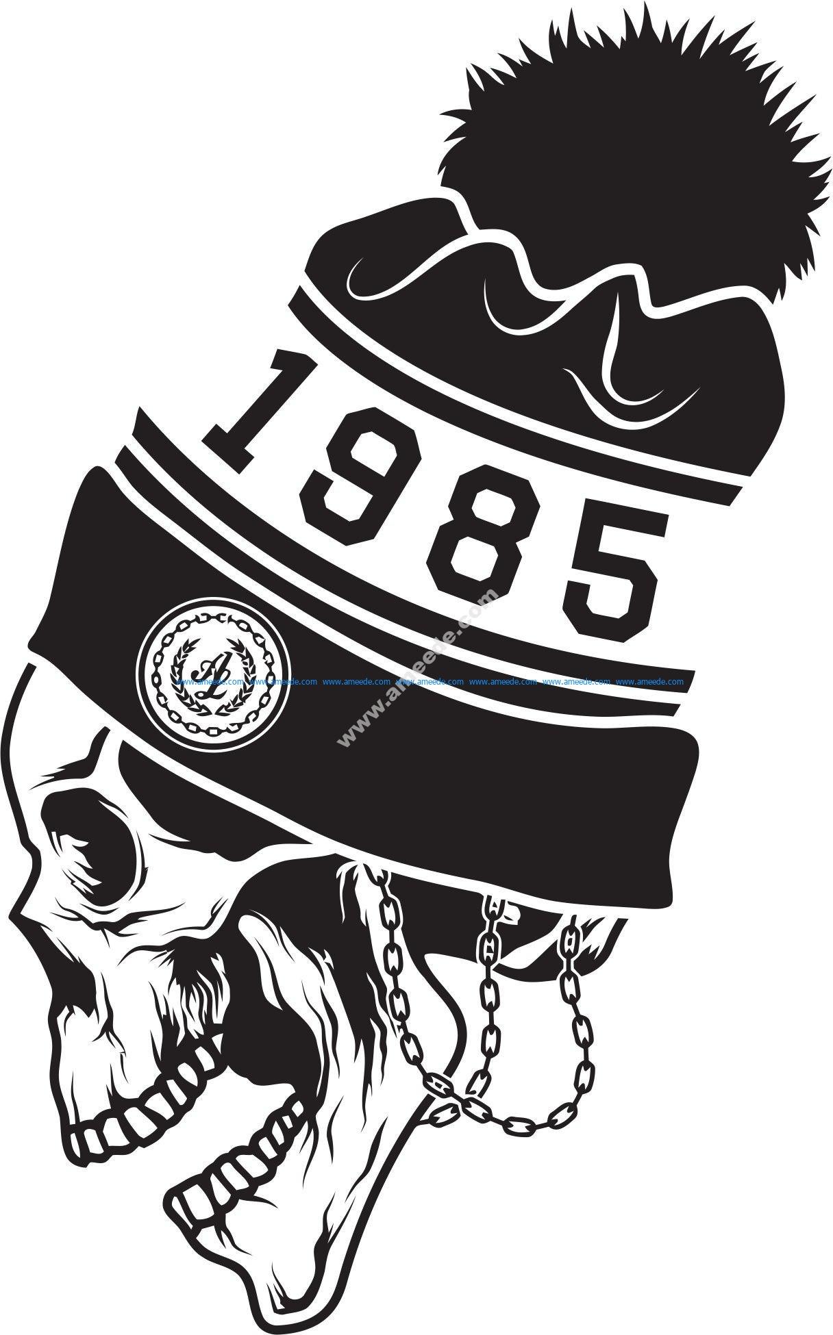 Skull sticker 1985