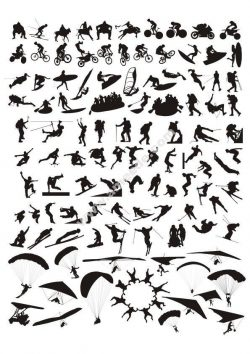 Sports silhouette set Vector