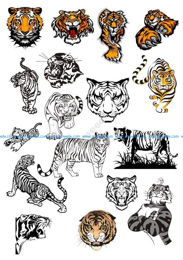 Tiger Vinyl Wall Stickers vectors