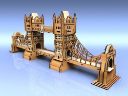 Tower Bridge teil file cdr and dxf free vector download for Laser cut CNC