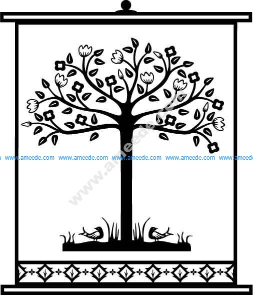 Tree Design Pattern 25 EPS