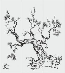 Tree Sandblasting Stencil