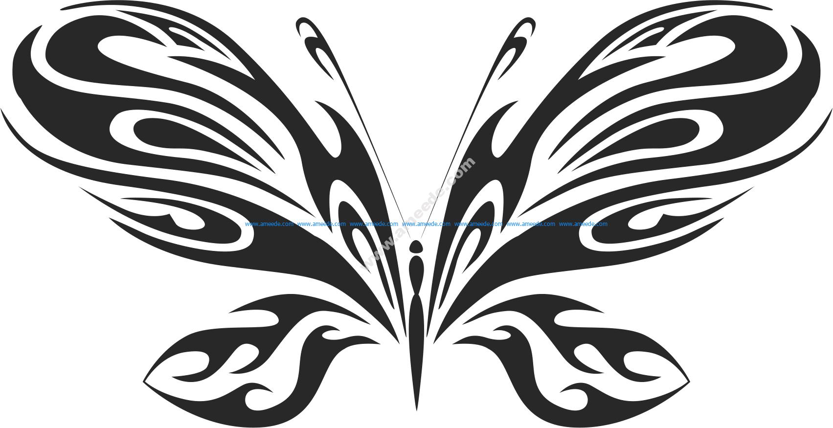 Tribal Butterfly Vector Art 20