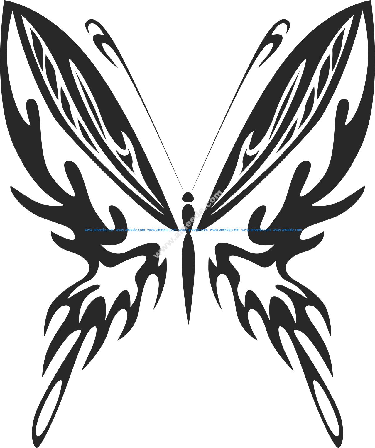 Tribal Butterfly Vector Art 23