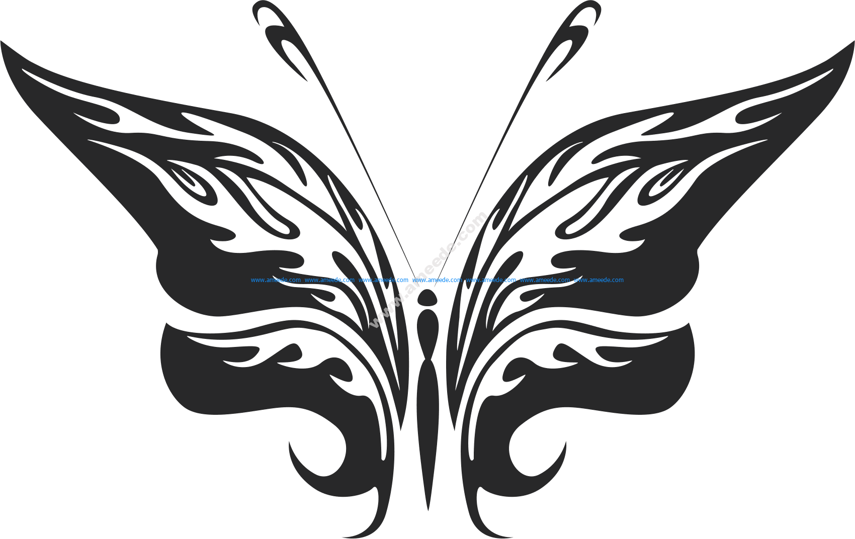 Tribal Butterfly Vector Art 25