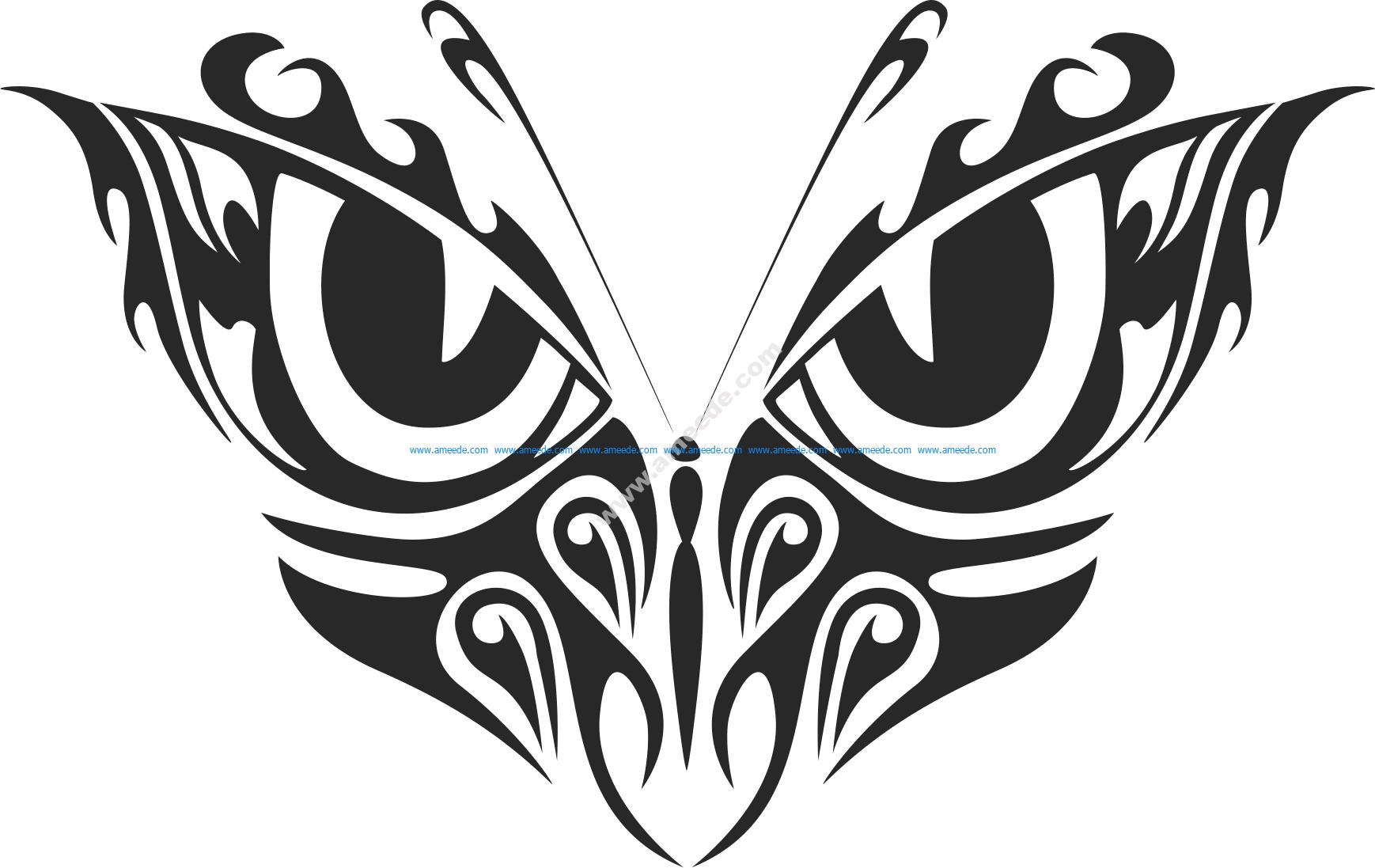 Tribal Butterfly Vector Art 33