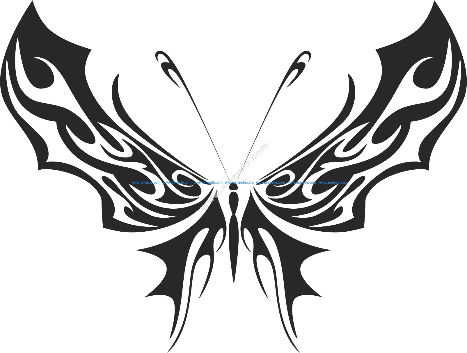 Tribal Butterfly Vector Art 35